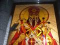 витраж в большом окне с изображением Князя Владимира